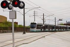 Tren del carril de la luz del metro de Phoenix imagen de archivo
