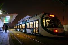 Tren del carril de la luz de Gaoxiong Fotografía de archivo libre de regalías