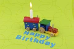 Tren del cumpleaños Fotos de archivo libres de regalías
