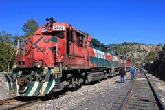 Tren del EL Chepe, barranco de cobre, México foto de archivo