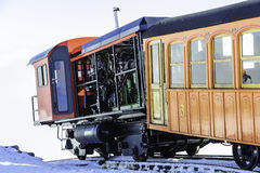 Tren del ferrocarril de diente en cumbre Imagen de archivo libre de regalías