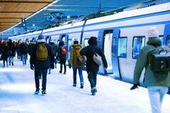 Tren del invierno Imagen de archivo libre de regalías