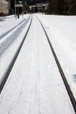 Tren del invierno Imagenes de archivo
