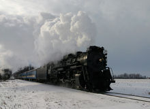 Tren del invierno Imagen de archivo