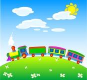 Tren del juguete stock de ilustración