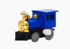 Tren del juguete aislado sobre blanco fotografía de archivo