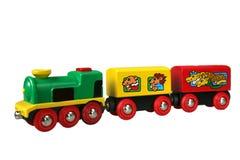 Tren del juguete con el carro 2 Fotografía de archivo libre de regalías