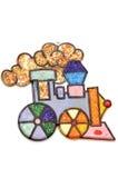 Tren del juguete de la pintura foto de archivo libre de regalías