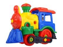 Tren del juguete del constructor Fotos de archivo