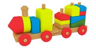 Tren del juguete del estaño con las cartas Imagenes de archivo