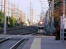 Tren del metro ligero de Sacramento Fotos de archivo libres de regalías