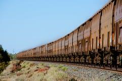 Tren del mineral de hierro fotografía de archivo