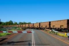 Tren del mineral de hierro foto de archivo