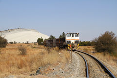 Tren del mineral del oro Fotografía de archivo