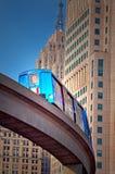 Tren del monocarril en Detroit Imagen de archivo libre de regalías