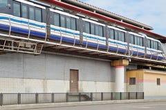 Tren del monorrail en ferrocarril Fotografía de archivo