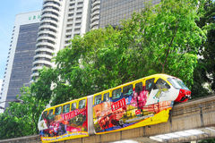 Tren del monorrail, Kuala Lumpur Imagen de archivo