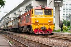 Tren del motor del enfoque en Tailandia Imágenes de archivo libres de regalías