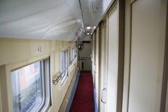 Tren del pasillo Imágenes de archivo libres de regalías