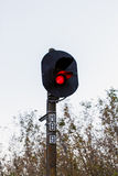 Tren del semáforo Fotografía de archivo libre de regalías
