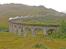 Tren del vapor. Fotografía de archivo libre de regalías