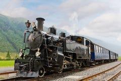 Tren del vapor de la vendimia Foto de archivo libre de regalías