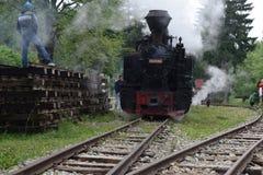 Tren del vapor de Mocanita Fotografía de archivo libre de regalías