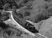 Tren del vapor en el país de Bronte Fotos de archivo libres de regalías