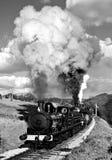 Tren del vapor en el país de Bronte (vendimia) Imagen de archivo libre de regalías