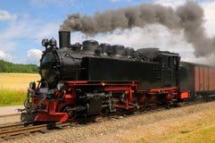Tren del vapor en la isla Rugen Foto de archivo libre de regalías