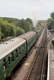 Tren del vapor que dirige a Swanage Imágenes de archivo libres de regalías