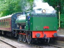 Tren del vapor del RSH, ferrocarril del valle de Avon, Gloucestershire imagen de archivo libre de regalías