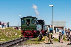 Tren del vapor del vintage en la estación de tren de Brocken en Alemania Fotos de archivo libres de regalías