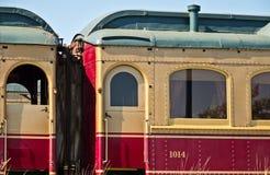 Tren del vino de Napa Valley fotografía de archivo