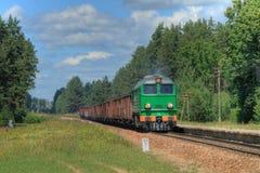 Tren diesel de la carga Fotos de archivo