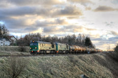 Tren diesel de la carga Fotografía de archivo libre de regalías