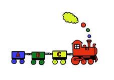 Tren divertido stock de ilustración
