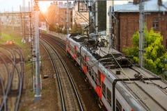Tren eléctrico de alta velocidad, ferrocarril Fotos de archivo