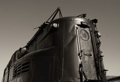 Tren eléctrico futurista viejo Imagen de archivo