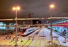 Tren eléctrico moderno Imágenes de archivo libres de regalías
