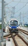 Tren elevado de la conexión del aeropuerto en Bangkok Foto de archivo libre de regalías