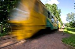 Tren en Adrspach Foto de archivo libre de regalías