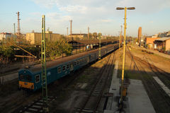 Tren en Budapest Imágenes de archivo libres de regalías