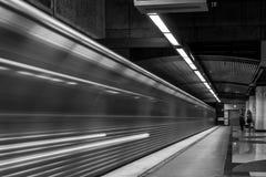 ¡Tren en camino! Imagen de archivo