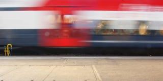 Tren en el movimiento foto de archivo libre de regalías