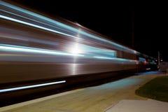 Tren en el movimiento Imagen de archivo libre de regalías
