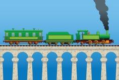 Tren en el puente Imagen de archivo libre de regalías