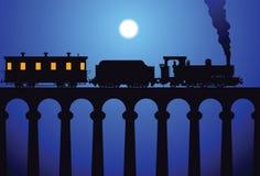 Tren en el puente Fotografía de archivo