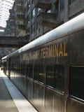 Tren en el terminal de ejército de Brooklyn en la casa abierta Nueva York Weeke Fotografía de archivo libre de regalías