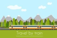 Tren en ferrocarril Imagen de archivo